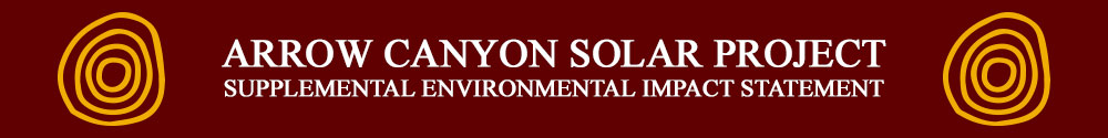 Arrow Canyon Solar Project Supplemental Environmental Impact Statement Home Page